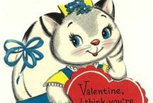 Vintage Valentine's Day greeting cards / Valentine's Day, greeting cards, hearts, vintage, love, puns,  / by Marcie Fleischman