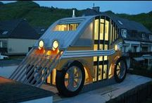 TINY HOUSES, CAMPING AND STRANGE RIDES! / IF I HAD A HAMMER..I'D HAMMER IN THE MORNING AND BE DONE BY NIGHT! :) / by Sherry