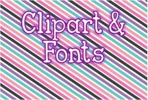 Clipart and fonts