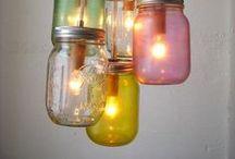 Jolies idées / bougies, éclairages / by Eonisra