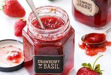 sweet jams / fruity and savory jams