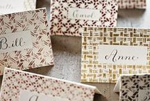 Wedding ESCORT & SEATING / {wedding planning} Escort cards and seating charts : segnaposto e tableau mariage