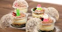 Christmas sweets / Merry Christmas!  It is our favorite holiday of the year! Let's make lots of delicious sweets like cake, cupcake and cookies to celebrate it!     by 7 Cut Recipe  http://7cutrecipe.com/