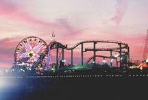 Sunset / palms and sunset •