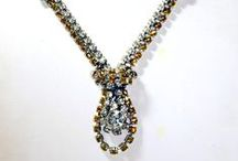 Vintage Rhinestone Bling / Antique and vintage jewelry, rhinestone pins, necklaces and bracelets. I love the old, old paste and rhinestone pieces, and buy and sell them whenever I can!