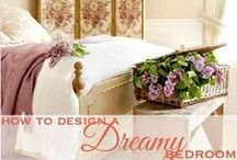 DreamyBeds / Bedrooms, furnished with beautiful antique French beds, filled with down and linen duvets, frilly romantic sheets or stylish designer linens. It's the place you go to relax, to sleep, to recharge and to treat yourself with luxury. How to make your bedroom beautiful and the perfect place to retreat to? Add everything you love, but keep it luxurious and elegant. / by French Garden House