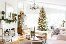 Christmas at our French Chateau / #french #country # holiday # decor