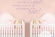 Twice the Blessings - Twins Wall Decals