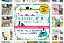 Ultimate Homemaking Bundle / Lots of ebooks and ecourses included in the Ultimate Homemaking Bundle