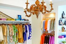 Closet Envy / A well organized closet is an everyday luxury. Making it beautiful only adds to the fun of getting dressed each day. Designer bags, shoes, blouses, pants and dresses all neatly organized so that you can find the perfect outfit every time.