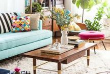 living spaces / Interiors: Modern, mid century living room decor ideas