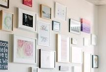 gallery wall / galley wall; photography and home decor