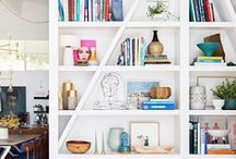 shelf styling / bookshelf and table styling ideas