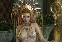 Fantasy princesses / Costumes of fantasy princesses