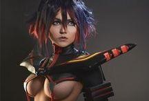 Ryuko (Kill la Kill) cosplay