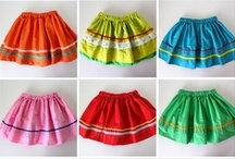 How to Make a Girl's Skirt / Want to make a skirt for your favorite little girl?  A simple, tiered, layered, or bubble style?  Pleats, ruffles, ribbons, rick rack, or patchwork details?  Cotton, knit, or tulle fabrics?  They're all represented here!  And they are all multi-sized :)  Visit my roundup post at http://angelab.me/how-to-make-a-girls-skirt-a-sewing-project-roundup/