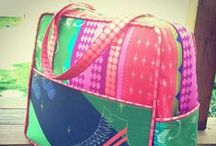 Weekender Inspiration / some gorgeous finishes from Amy Butler's Weekender Travel Bag sewing pattern