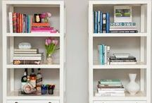 Styling around the Home / Bookcases, bar carts, nightstands... there's an art to making things look put together effortlessly :) This board is inspiration for decorating all those little nooks and crannies.
