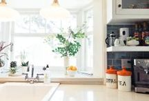 Kitchen Inspiration / The heart of the home is in the Kitchen and this board is full of inspiration for a cozy, functional and gorgeous kitchen space. Big or small, the kitchen is where everyone wants to be.