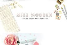 Styled Stock Photos / Dear Miss Modern Styled Photos // instant downloads for branding beautiful businesses.