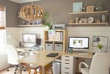 Home Office Ideas / home decor for your office, office deocr ideas, decorating an office, office decor inspiration, inspiration for your home office