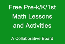 Math K-1 TPT Freebies / Collection of free math lessons/games/activities for kindergarten and 1st grade / by Diving Into Learning