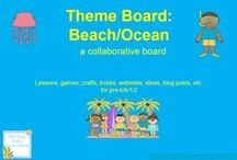 Theme- Beach/Ocean / K-2 lessons, games, crafts, websites and books to go along with a beach/ocean/pirates theme. Contributors- please pin 1:1 ratio (1 paid product per freebie/craft/book/etc).