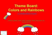 Theme- Colors/Rainbow / K-2 lessons, games, crafts, websites, books to go along with a colors/rainbow theme.
