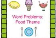 Theme- Food / K-2 lessons, games, crafts, websites and books to go along with a food theme. Contributors- please pin 1:1 ratio (1 paid product per freebie/craft/book/etc).  / by Diving Into Learning