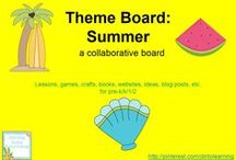 Theme- Summer / K-2 lessons, games, crafts, websites and books to go along with a summer theme (or learning about seasons). Contributors- please pin 1:1 ratio (1 paid product per freebie/craft/book/etc).