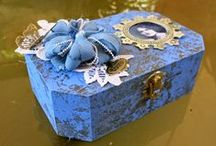 Keepsake Boxes / Keepake Boxes for sewing, jewelry or anything else that  have been turned into art pieces