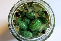 fermented, canned, pickled, marinated, infused, preserved / and oils and olives and such