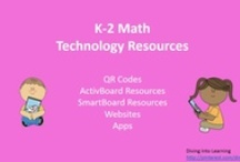 K-2 Math Technology Resources / A collection of K-2 math lessons and games for QR Codes, ActivBoards, Smartboards, websites, and apps.  / by Diving Into Learning
