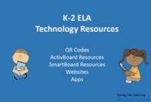 K-2 ELA Technology Resources / K-2 ELA lessons and games for QR Codes, ActivBoards, SmartBoards, websites and apps.  / by Diving Into Learning