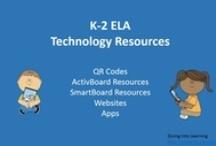K-2 ELA Technology Resources / K-2 ELA lessons and games for QR Codes, ActivBoards, SmartBoards, websites and apps.
