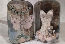 Tin Boxes / Tiny boxes that are altered including matchboxes