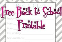 Back to School / Printables, lunches, schedules, routines, recipes and all things for back to school.