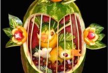 Fruit Carving & Salads