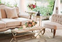 Wedding Lounge Areas / Your reception sets the tone for the whole evening. You want to create an inviting space that encourages your guests to jump in and participate in your celebration! Creating a comfortable, homey space is a great place to start!