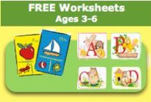 Free Worksheets - Ages 3-6 / Free Worksheets - Ages 3-6 offers a large variety of worksheets to download. / by SchoolExpress