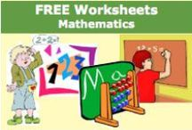 Free Worksheets - Mathematics / Free Worksheets - Mathematics offers a large variety of worksheets to download. / by SchoolExpress