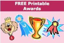 Free Printable Awards / Free Worksheets - Awards offers a large variety of award worksheets to download. / by SchoolExpress