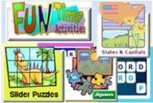 Online Fun Games / Online Fun Games offers a large variety of fun games for children.  Adults too, enjoy many of these games. / by SchoolExpress