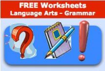 Free Worksheets - Grammar / Locats lots of free worksheets for the following; Abbreviations,  Action Verbs,  Adjectives,  Adverbs,  Alphabetizing,  Antonyms,  Synonyms, Homophones,  Classifying,  Compound Words,  Contractions,  Direct Objects,  Non-Action Verbs,  Nouns,  Plurals,  Prefixes and Suffixes,  Pronouns,  Punctuation,  Quotations / by SchoolExpress