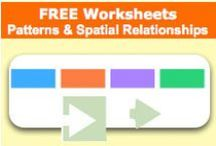 Free Worksheets - Spatial Relationships and Patterns / by SchoolExpress