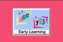 Early Learning eWorkbooks / Early Learning - offers 78 eWorkbooks for ages 3-6. These include; learning letters, numbers, matching, rhyming, spatial relationships, colors, counting and more. / by SchoolExpress
