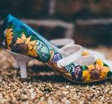 Tanzanite Butterfly Wedding shoes / A collection of Tanzanite Butterfly hand painted custom wedding shoes inspired by your wedding colours, theme and your own unique love story. Not just a pair of shoes, but memories.