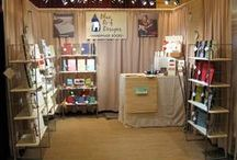 Booth Design & Display Ideas / Inspiration for sprucing up your craft show or retail shop displays.
