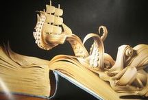 Book Art / Made from and inspired by books. / by Sarah Allen