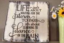 Life / Inspirational wood decor signs with the theme of loving life and appreciating everyday!